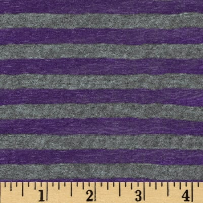 Onion Skin Striped Jersey Knit Grey/Purple