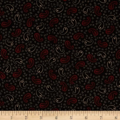 Scrap Happy Paisley Red/Black