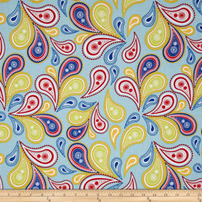 Riley Blake Summer Celebration Summer Paisley Blue