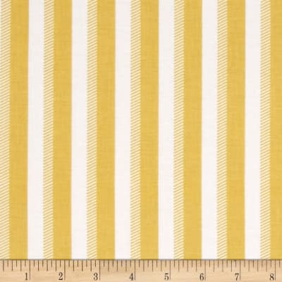 Riley Blake Wiltshire Daisy Stripe Yellow