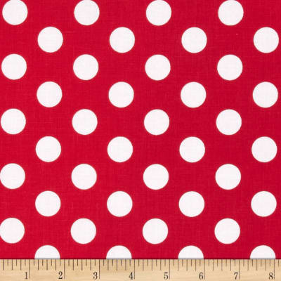 Riley Blake Wiltshire Daisy Dot Red
