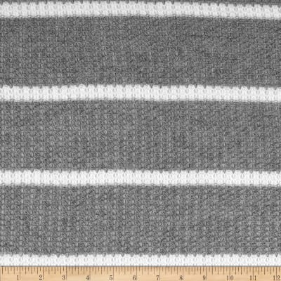 Lacey Sweater Knit Stripe Grey/White