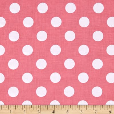 Riley Blake Basics Medium Dot Coral