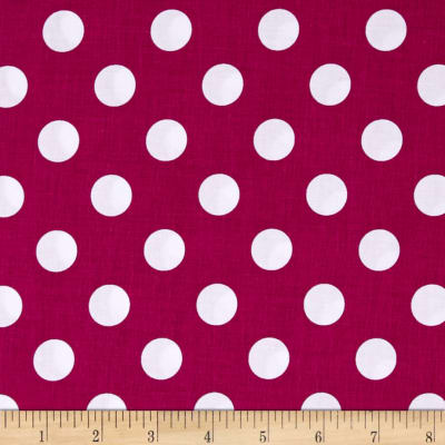 Riley Blake Basics Medium Dot Fuchsia