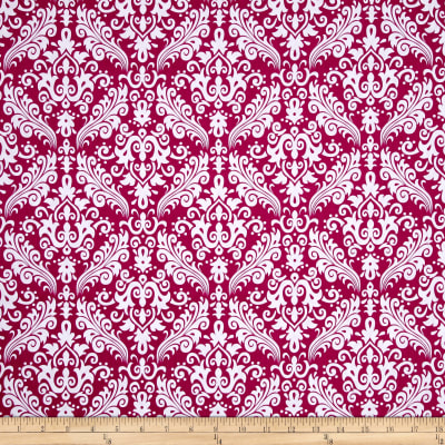 Riley Blake Basics Medium Damask Fuchsia