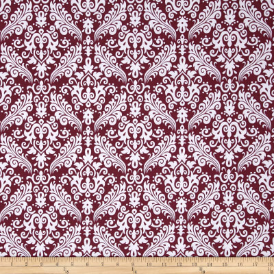 Riley Blake Basics Medium Damask Burgundy
