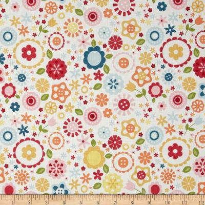 Riley Blake Fine & Dandy Floral White