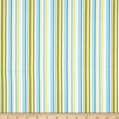 Riley Blake Fine & Dandy Flannel Stripe Blue