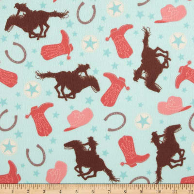 Riley Blake Rodeo Rider Flannel Rodeo Main Mint