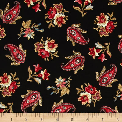 Penny Rose Victoria Paisley Black