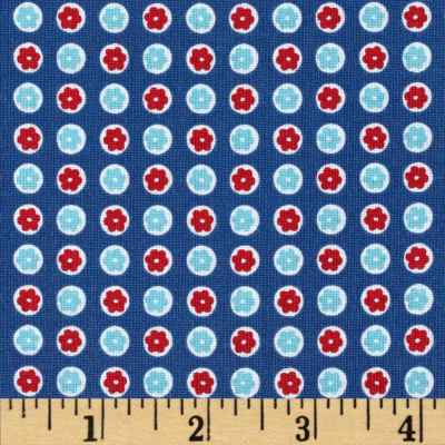 Penny Rose 30's Minis Dots Blue