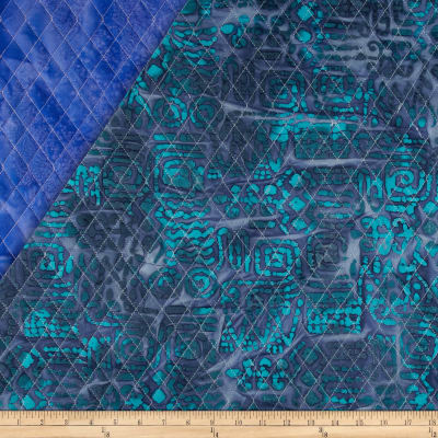 Indian Batik Double Sided Quilted Tribal Print Turquoise/Purple