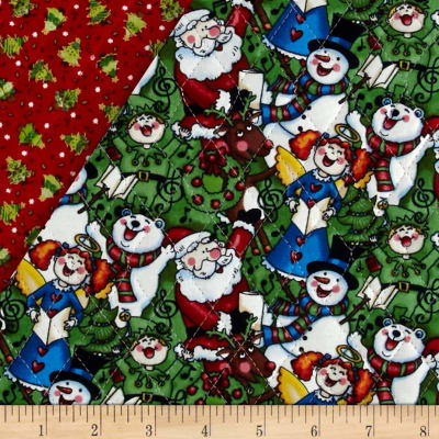 Christmas 2015 Double Sided Quilted Singing Santa Multi