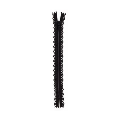 "Fashion Cutwork Zipper 22"" Black"