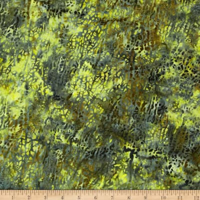 Bali Batik Handpaints Macro Leaf Watercress