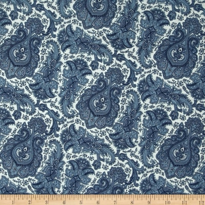 Penny Rose Meadow Paisley Blue