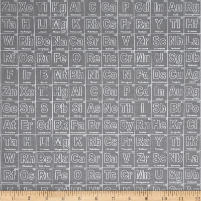 Riley Blake Novelty Periodic Gray