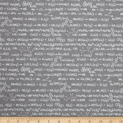 Riley Blake Novelty Equation Gray