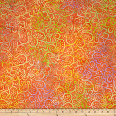 Timeless Treasures Tonga Batik Birds of Paradise Whimsy Leaf Citrus