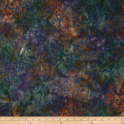 Timeless Treasures Tonga Batik Birds of Paradise Foulard Galaxy