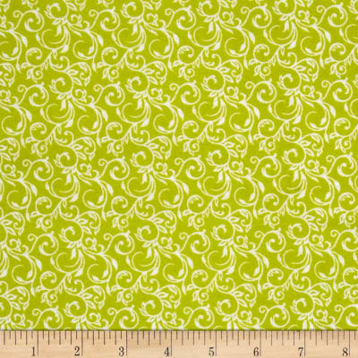 Basics Flannel Scroll Lime