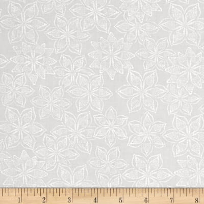 Cream & Sugar Stylized Floral Gray