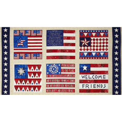 American Dream 24 In. Block Panel  Multi