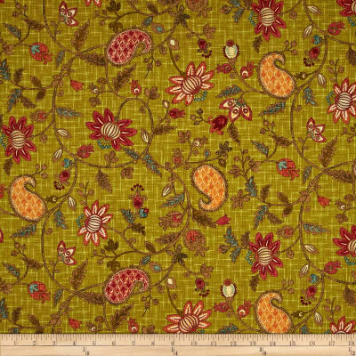 Autumn Elegance Jacobean Paisley Green