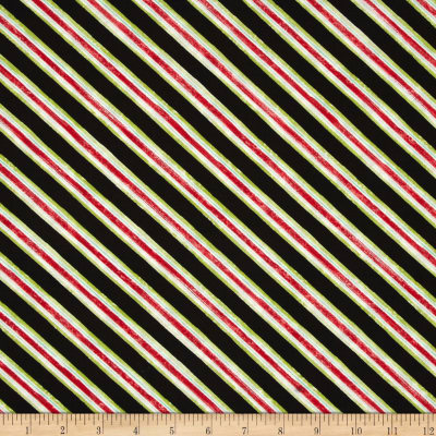 Holly Jolly Stripe Black