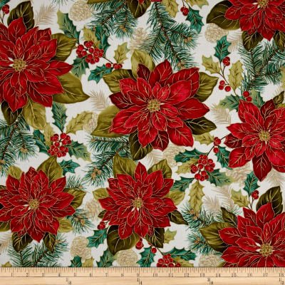 Christmas Splendor Poinsettia Cream
