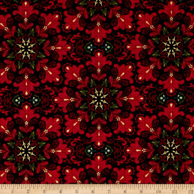 Christmas Splendor Medallion Snowflake Black
