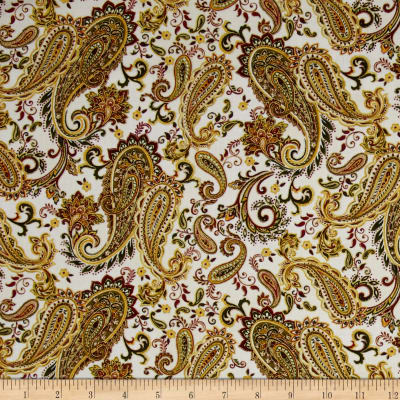 Christmas Splendor Paisley Cream