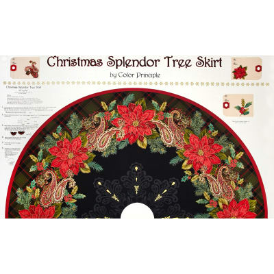 Christmas Splendor Tree Skirt Panel 60 In. Multi
