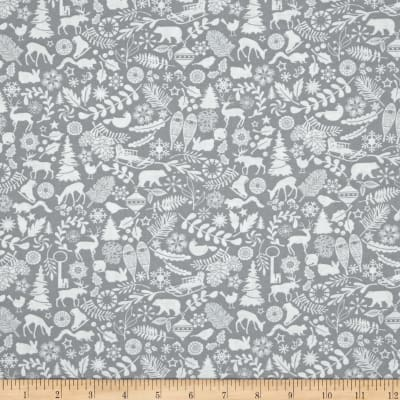 Holiday Magic Winter Motifs Grey
