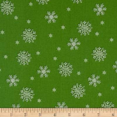 Frosty Flakes Snowflakes Green