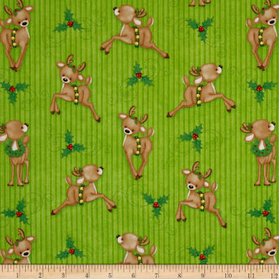 Kringle Krossing Reindeer Green