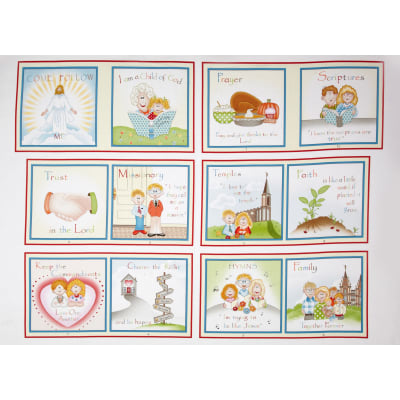 Follow Me 24 In. Book Panel Red