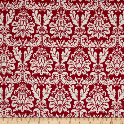 Joyeux Noel Large Damask Red