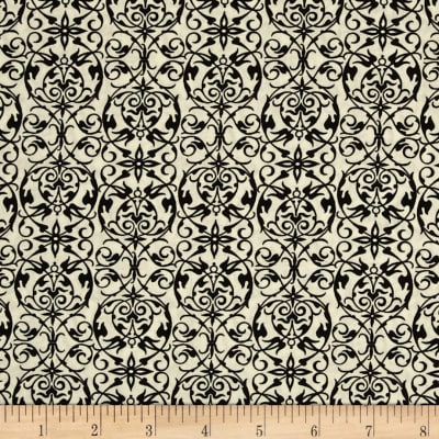 Joyeux Noel Small Damask Black