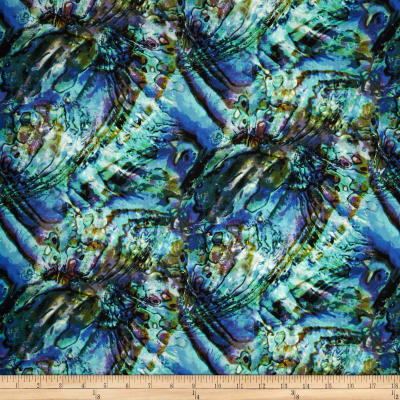 Natural Wonders Abalone Texture Light Blue