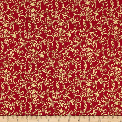 Pearle Gold Scroll Red/Gold Pearl