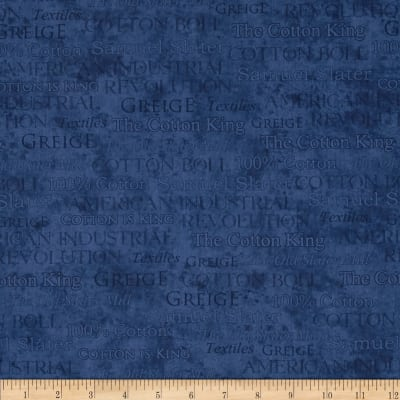 The Cotton King Words Blue