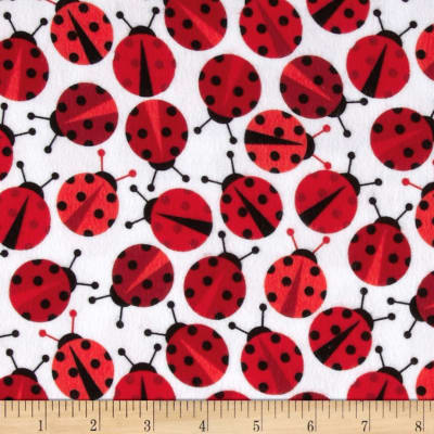 Urban Zoologie Flannel Lady Bugs Cherry