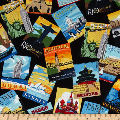 Dream Vacation Tossed Postcards Bright
