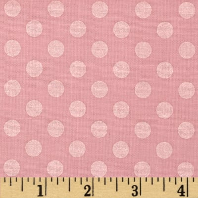 Kaufman Spot On Pearl Metallic Medium Dot Baby Pink