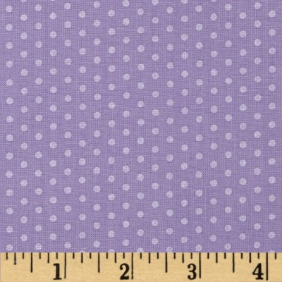 Kaufman Spot On Pearl Metallic Small Dot Lavender
