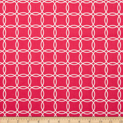 Metro Living Interlocking Circles Fuchsia