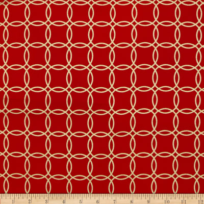 Metro Living Interlocking Circles Metallic Scarlet