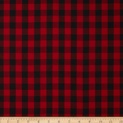 Kaufman House of Wales  Lawn Plaid Red