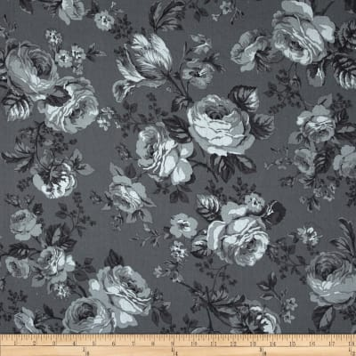 Michele's Rose 108 In. Wide Quilt Back Gray